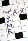 Il momento di imposta per la dichiarazione dei redditi Immagini Stock