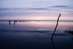 Il momento magico del tramonto Immagini Stock