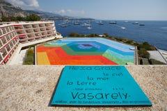 Il Monaco, Monte Carlo, 29 05 2008: HexaGrace - Vasarely 1979 Immagine Stock