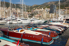 Il Monaco, Monte Carlo, 25 09 2008: manifestazione dell'yacht, porto Hercule Immagini Stock