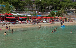 Il Monaco - spiaggia della città Immagini Stock