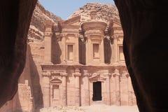 Il monastero (Al-Deir) immagine stock libera da diritti