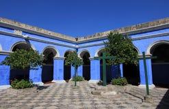 Il monastero del san Catherine, Santa Catalina, Arequipa, Perù Fotografia Stock Libera da Diritti