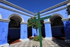Il monastero del san Catherine, Santa Catalina, Arequipa, Perù Fotografia Stock