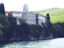 Il monastero del san Naum Immagini Stock Libere da Diritti