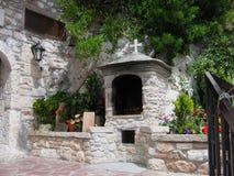 Il monastero del san Patapios Loutraki Grecia immagini stock