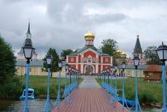Il monastero dell'icona di Iverskaya Fotografia Stock Libera da Diritti