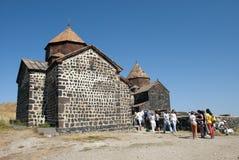 Il monastero dell'isola o il Sevanavank (chiesa) nell'isola di Sevan Immagini Stock