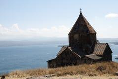 Il monastero dell'isola o l'isola e il Sevanavank di Sevan Immagine Stock