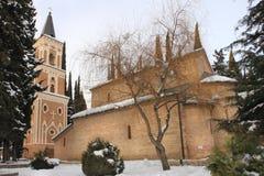 Il monastero della st Nino a Bodbe nell'inverno Immagine Stock Libera da Diritti