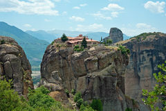 Il monastero della trinità santa, Meteora, Grecia Immagini Stock