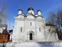 Il monastero delle donne vladychny di Serpuchov Un luogo santo ha visitato da molti turisti fotografia stock libera da diritti