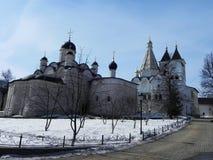 Il monastero delle donne vladychny di Serpuchov Un luogo santo ha visitato da molti turisti fotografia stock