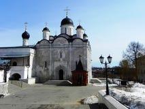 Il monastero delle donne vladychny di Serpuchov Un luogo santo ha visitato da molti turisti immagine stock libera da diritti