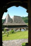 Il monastero di Barsana (Maramures, Romania) Fotografie Stock Libere da Diritti