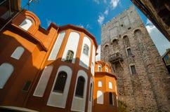 Il monastero di Dionisiou Fotografie Stock Libere da Diritti
