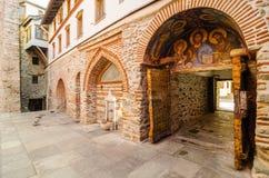 Il monastero di Dionisiou Immagine Stock