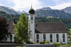 Il monastero di Engelberg sulle alpi svizzere Fotografie Stock Libere da Diritti