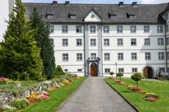 Il monastero di Engelberg sulle alpi svizzere Fotografia Stock Libera da Diritti