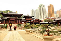 Tempio buddista di Lin di 'chi' a Hong Kong fotografie stock libere da diritti