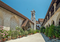 Il monastero di vergine Maria di Chrysotogiatissa sul Cipro Fotografie Stock Libere da Diritti