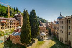 Il monastero di Zografou Fotografia Stock Libera da Diritti