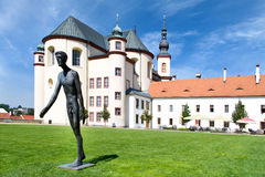 Il monastero fa il giardinaggio, Litomysl, (Unesco), la repubblica Ceca, Europa Fotografia Stock Libera da Diritti