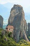 Il monastero santo della st Barbara di Rousanou Fotografia Stock