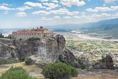 Il monastero santo di St Stephen, Meteora, Grecia 3 Fotografia Stock Libera da Diritti