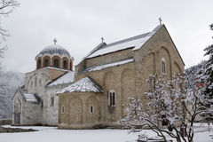 Il monastero Studenica, Serbia, sito del patrimonio mondiale dell'Unesco immagine stock libera da diritti