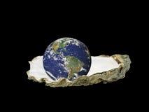 Il mondo è la vostra ostrica Immagini Stock Libere da Diritti