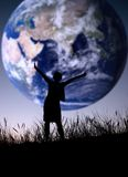 Il mondo è mio Fotografia Stock Libera da Diritti