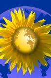Il mondo gradice un fiore Fotografia Stock Libera da Diritti