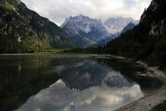 Il mondo meraviglioso della montagna nel Tirolo del sud Immagini Stock Libere da Diritti