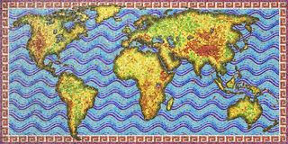 Il mondo - mosaico Immagini Stock