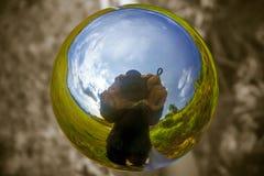 Il mondo nella palla Immagine Stock