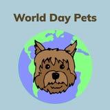 Il mondo pets il giorno illustrazione di stock