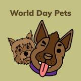 Il mondo pets il giorno illustrazione vettoriale