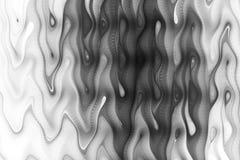 Il monocromio astratto ondeggia su fondo nero Fotografie Stock Libere da Diritti