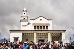 Il Monserrate Monastary a Bogota Colombia fotografia stock libera da diritti