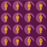 Il montaggio della gente profila la figura del bastone Immagine Stock Libera da Diritti