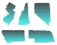 Il Montana, Nebraska, Nevada, N. Hampshire, N. Jersey Immagine Stock Libera da Diritti