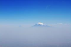 Il monte Ararat nella nebbia Fotografia Stock Libera da Diritti