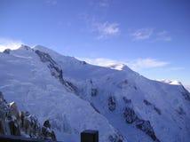 Il Monte Bianco Alpes Francia WhiteSnow Fotografia Stock Libera da Diritti