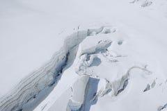 Il Monte Bianco, il più alta montagna di Europa Immagini Stock Libere da Diritti