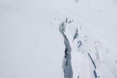 Il Monte Bianco, il più alta montagna di Europa Fotografia Stock