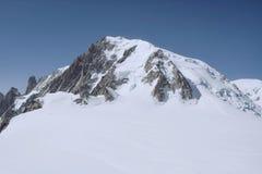Il Monte Bianco, il più alta montagna di Europa Fotografia Stock Libera da Diritti