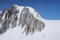 Il Monte Bianco, il più alta montagna di Europa Fotografie Stock Libere da Diritti