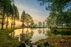 Il monte Fuji ha riflesso in lago Giappone Fotografia Stock Libera da Diritti