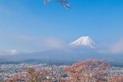 Il monte Fuji in primavera con il fiore di ciliegia Sakura Immagini Stock